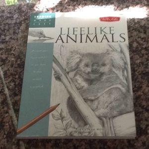 Lifelike Animals drawing instruction book.